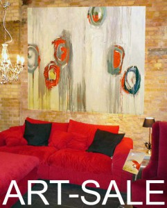 Großformatige, moderne Kunst günstig online oder in Berlin kaufen.