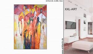 Junge Berliner Künstler malen große, abstrakte Bilder