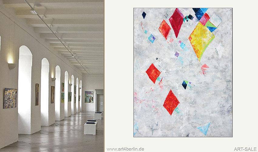 Großformate, abstrakte Malerei faszinierend schön.