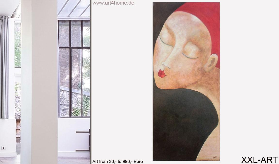 Wände mit moderner Kunst, großformatige Acrylbilder, zeitgenössische Malerei,