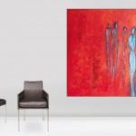 Großformate. Acryl- und Ölmalerei auf Leinwand.