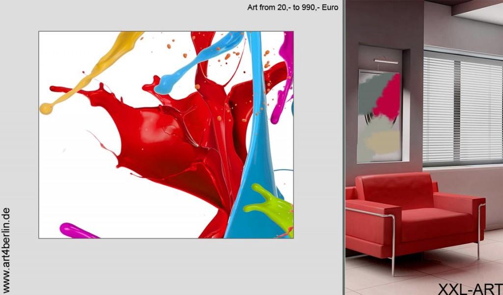 gro e gem lde farbenfrohe malerei abstrakte acrylbilder art4berlin. Black Bedroom Furniture Sets. Home Design Ideas