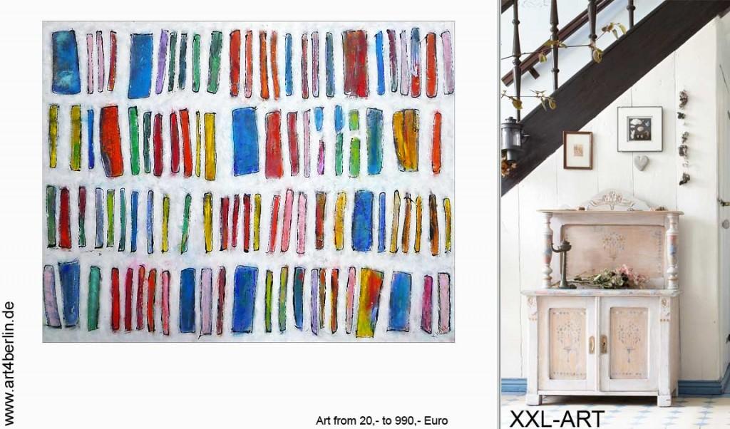 Malerei junger Künstler. Satte Ölfarben, knallige Acrylfarben. Große Bilder!