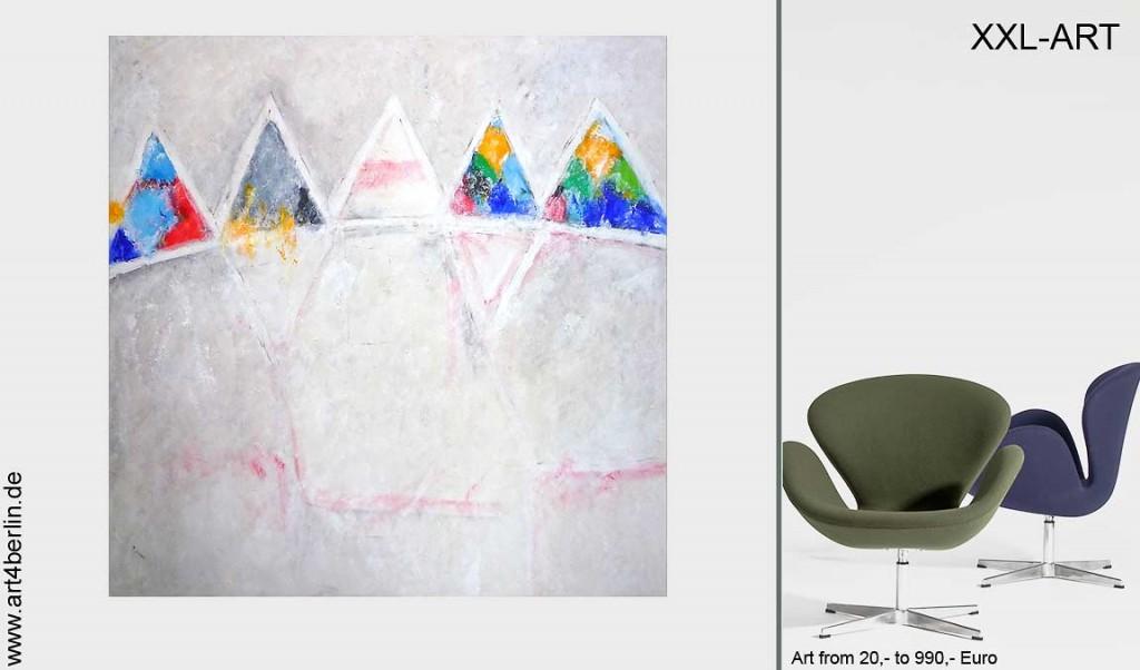 Junge Kunst, modern und verrückt. Malerei!